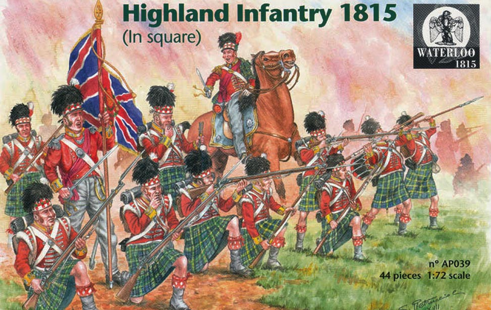HIGHLAND INFANTRY 1815 ( IN SQUARE )