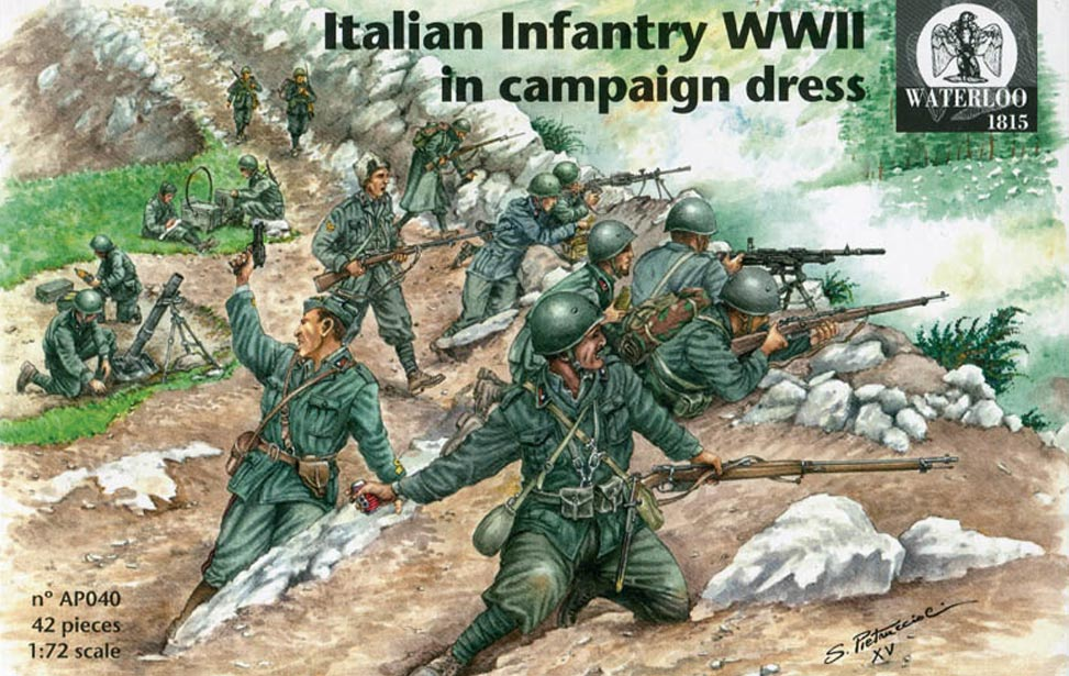 ITALIAN INFANTRY WWII in campaign dress