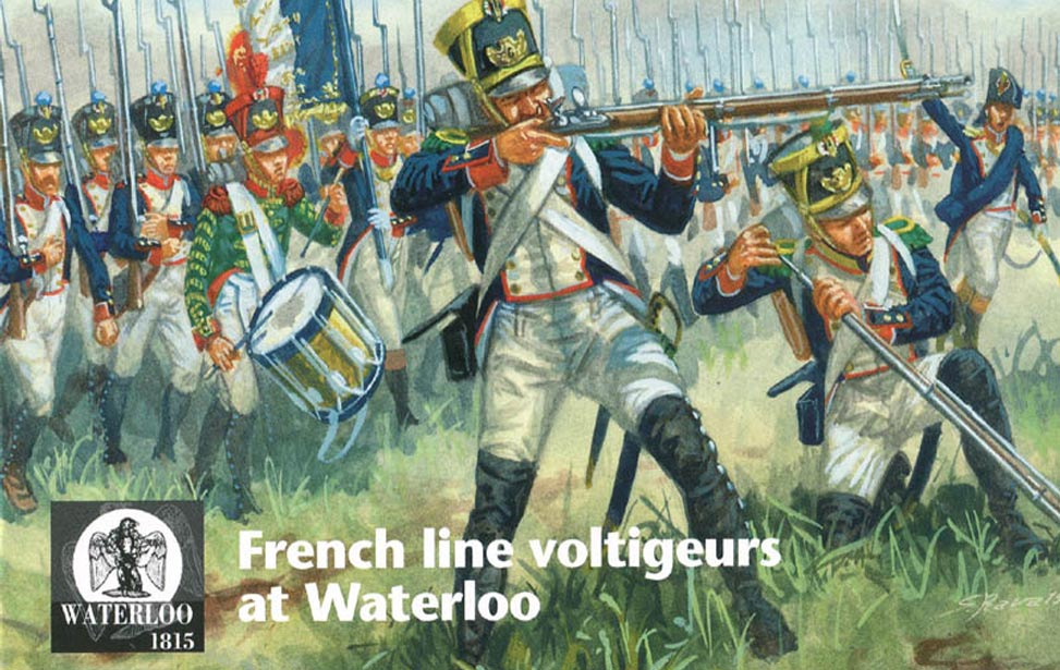 FRENCH LINE VOLTIGEURS AT WATERLOO